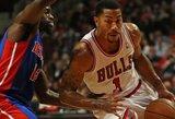 """Įsibėgėjantis D.Rose'as atvedė """"Bulls"""" į eilinę pergalę (kiti rezultatai)"""