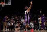 """L.Jameso ir A.Daviso duetas įrašė pirmąją """"Lakers"""" pergalę"""