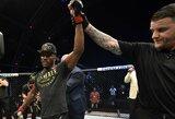 """K.Usmanas prakalbo apie siūlytą titulinę kovą C.McGregorui: """"Jis tylėjo"""""""