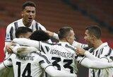 """Tarpusavio dvikovą laimėjęs """"Juventus"""" sumažino atotrūkį nuo """"Serie A"""" lygos lyderio """"Milan"""""""