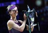 """Svajonių savaitė: Ukrainos teniso gražuolė laimėjo prestižinį """"WTA Finals"""" turnyrą ir susižėrė įspūdingą pinigų sumą"""