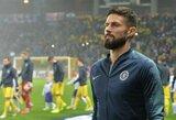 """O.Giroud gali palikti """"Chelsea"""" ir sugrįžti į Prancūziją?"""