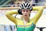 O.Baleišytė pasaulio dviračių treko taurės bendroje įskaitoje išsaugojo antrą vietą