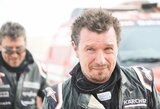 """A.Juknevičius rekordinę vietą užėmė net ir su sprogusia padanga: """"Žiūriu per veidrodėlį – jau skraido gumos gale"""""""