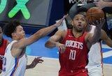 """""""Rockets"""" per kėlinį pataikė 11 tritaškių ir sutriuškino varžovus"""