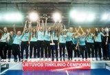 """Neįtikėtino atkaklumo Lietuvos moterų tinklinio čempionato finale triumfavo """"Heksa-ASU"""""""