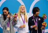 Po iškovoto pirmojo apdovanojimo Lietuva medalių įskaitoje užima 16-ą vietą