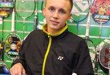 """R.Stapušaitis: """"Tapau priklausomas nuo badmintono"""""""