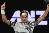 """Įspūdinga R.Federerio statistika: antrasis 100-ojo milijono laimėtojas ir pirmasis 100-ąjį mačą """"Australian Open"""" žaisiantis tenisininkas"""