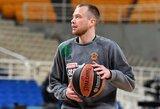 """L.Lekavičius surinko 5 taškus, o """"Panathinaikos"""" neatsilaikė prieš A.Caloiaro vedamą """"Maccabi"""" ekipą"""