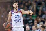 """Eurolygos lyderių dvikova baigėsi dramatiška """"Anadolu Efes"""" pergale prieš CSKA"""