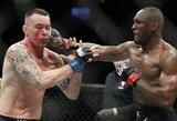 UFC čempionas K.Usmanas penktame raunde įspūdingai sustabdė teisėjo sprendimo nesupratusį C.Covingtoną