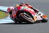"""M.Marquezas paskutinėmis sekundėmis iškovojo """"pole"""" poziciją, V.Rossi gimtinėje patyrė fiasko"""