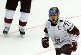 Latviai pasaulio čempionate sutriuškino korėjiečius ir tęsia kovą dėl vietos ketvirtfinalyje