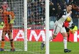"""C.Ronaldo išplėšė """"Juventus"""" lygiąsias su """"Sassuolo"""""""