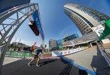Vilniuje vyko atnaujintas bėgimas į dangoraižį