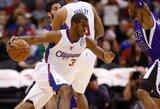 """Ch.Paulas nesugebėjo pratęsti dvigubų dublių serijos, tačiau išplėšė pergalę """"Clippers"""" ekipai"""