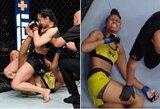Pamatykite: UFC turnyre –nestandartiniu kampu atliktas kojos laužimas ir pralaimėtojos klyksmas iš skausmo