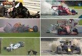 """""""F-1"""" nelaimėliai: kuris lenktynininkas 2020 m. savo komandai pridarė daugiausiai nuostolių?"""