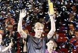 """Finalą pralaimėjęs K.Nishikori beveik prarado viltis patekti į """"ATP Finals"""" turnyrą"""