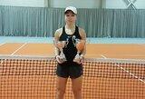 Penkiolikmetės Lietuvos tenisininkės pergalės tarptautiniame jaunių turnyre Estijoje