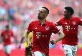 """Vokietija: du F.Ribery įvarčiai garantavo penktą iš eilės """"Bayern"""" pergalę ir kilimą į antrą poziciją"""