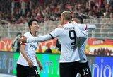 """Trečią pergalę iškovoję """"Eintracht"""" vejasi Vokietijos lyderius"""