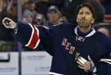 """""""Rangers"""" įveikė blogiausią NHL komandą, o H.Lundqvistas įsirašė į lygos metraščius"""