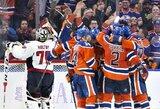 """""""Oilers"""" šlovė sugrįžta? Edmontono ekipa iškovojo šeštą pergalę ir pirmauja Vakarų konferencijoje"""