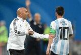Argentinos rinktinės treneris J.Sampaoli griežtai paneigė kalbas, kad komandai nurodinėja L.Messi