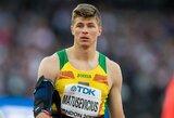 """Skausmą kentęs E.Matusevičius: """"Neatvažiavau kovoti dėl medalio – atvažiavau įgyti patirties, kurios tikrai gavau"""""""