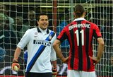 J.Cesaras erzino Z.Ibrahimovičių prieš vienuolikos metrų baudinį