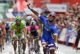 """Prancūzijos sprinteris N.Bouhanni laimėjo dar vieną """"Vuelta a Espana"""" lenktynių etapą"""