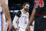 """""""Thunder"""" nesunkiai susitvarkė su Bostono ekipa, sugrįžo 30 mėnesių nežaidęs krepšininkas"""