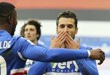 """Italijoje – nerealizuotas A.Sanchezo 11 m baudinys ir """"Inter"""" pralaimėjimas"""