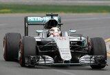 """Naująjį """"Formulės 1"""" sezoną pradėjo jubiliejinis L.Hamiltono triumfas kvalifikacijoje"""