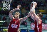 """M.Kuzminskas ir A.Gudaitis pelnė po tiek pat taškų, bet """"AX Armani"""" suklupo finalo rungtynėse"""