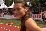 Simbolinę ribą įveikusi A.Šerkšnienė septintą kartą šiemet pagerino Lietuvos rekordą