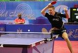 Lietuvos vyrų stalo teniso rinktinė įveikė Jordaniją ir pateko į atkrintamąsias varžybas