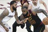 """""""Cavaliers"""" naujokų debiuto Klivlande nuo pralaimėjimo neišgelbėjo ir L.Jamesas"""