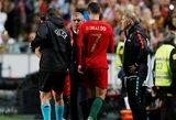 C.Ronaldo praradusi Portugalija Europos čempionato atrankoje antrą kartą iš eilės susitikimą baigė lygiosiomis