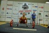 E.Valčiukas pagerino tris planetos jėgos trikovės rekordus ir nepaliko vilčių varžovams Europos jaunių čempionate