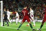 C.Ronaldo vedė Portugaliją į pergalę prieš Latviją, Belgija sudorojo estus