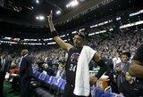 """P.Pierce'as su """"TD Garden"""" arena atsisveikino simboliniu tritaškiu, tačiau ne pergale"""