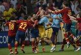Ispanijos rinktinė po 11 metrų baudinių serijos įveikė Portugaliją ir pateko į Europos čempionato finalą