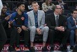"""""""Knicks"""" komanda nepatenkintas K.Porzingis gali būti iškeistas"""