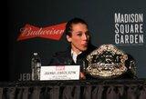 """UFC istoriją sukurti bandanti J.Jedrzejczyk ateityje grįš į minimalaus svorio kategoriją: """"Tikiuosi, kad R.Namajunas buvo gera čempionė"""""""