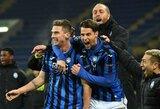 """Pirmą kartą į Čempionų lygą patekusi """"Atalanta"""" žais atkrentamajame etape"""