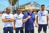 """Pamatykite: """"Tottenham"""" futbolininkai Venecijos paplūdimyje priėmė iššūkį ir atliko linksmas užduotis"""