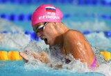 A.Šeleikaitė pasaulio taurės etape finišavo penkta, J.Jefimova iškovojo pirmąjį auksą